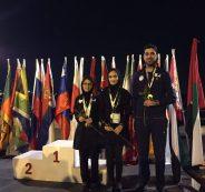 FISU World University Chess Championship 2016 - Team award - Iranians WIM Ghazal Hakimifard (silver medalist), WGM Mitra Hejazipour and IM Amirreza Pourramezanali