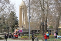 Hamedan, Iran - Nowruz 1395 and Chinese Year of the Monkey - Urban decoration 00
