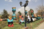 Hamedan, Iran - Nowruz 1395 and Chinese Year of the Monkey - Urban decoration 02