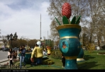 Hamedan, Iran - Nowruz 1395 and Chinese Year of the Monkey - Urban decoration 05