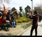Hamedan, Iran - Nowruz 1395 and Chinese Year of the Monkey - Urban decoration 07