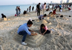 Hormozgan, Iran - Kish Island - Sand sculptures 56