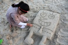 Hormozgan, Iran - Kish Island - Sand sculptures 69