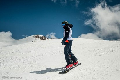 Snowboard competition in Dizin Ski Resort, Iran - April, 2016 (Photo credit: Mehr News Agency)
