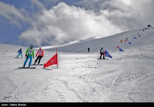 Snowboard competition in Dizin Ski Resort, Iran - April, 2016 (Photo credit: Abbas Shariati / Tasnim News Agency)