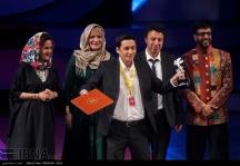 """Walnut tree"" by Kazakh director Yerlan Nurmukhambetov won the Best Film Trophy in the Eastern View section at the 34th Fajr International Film Festival held at Tehran's Vahdat Hall, Iran (Photo credit: IRNA)"