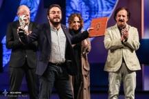 "Special Jury Prize Silver Simorgh was awarded to ""Arvand"" by Iranian director Pouria Azarbayjani at the 34th Fajr International Film Festival held at Tehran's Vahdat Hall, Iran (Photo credit: Ali Najib / ISCA News)"