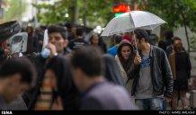 Tehran, Iran - Sudden spring rain in Tehran 06
