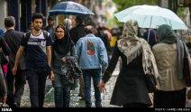 Tehran, Iran - Sudden spring rain in Tehran 08