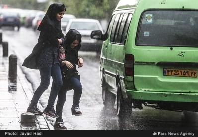 Tehran, Iran - Sudden spring rain in Tehran 09