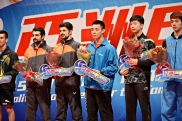 2016 ITTF Asia Olympic Qualification, Hong Kong - Award ceremony - Men - Iranian table tennis players Noushad and Nima Alamiyan secured Olympic spots for Rio 2016 - 02
