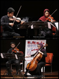 Tehran Contemporary Music Festival 2016 - Arvand String Quartet - 02 - Iran