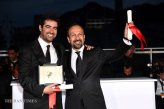 Iranian Film 'The Salesman' (Forushande) at Cannes 2016 - Closing Ceremony - Photocall Winners - Director Asghar Farhadi and Actor Shahab Hosseini - 03