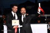 Iranian Film 'The Salesman' (Forushande) at Cannes 2016 - Closing Ceremony - Photocall Winners - Director Asghar Farhadi and Actor Shahab Hosseini - 03