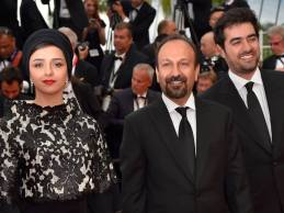 Iranian Film 'The Salesman' (Forushande) by Asghar Farhadi at Cannes 2016 - Closing Ceremony - Red carpet - Taraneh Alidoosti, Asghar Farhadi and Shahab Hosseini