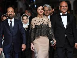 Iranian Film 'The Salesman' (Forushande) by Asghar Farhadi at Cannes 2016 - Red carpet - Team of Forushande