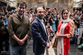Press conference in Tehran after Cannes 2016 - Director Asghar Farhadi and actors Shahab Hosseini and Taraneh Alidoosti of Iranian film 'The Salesman' (Forushande) - 02