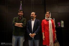 Press conference in Tehran after Cannes 2016 - Director Asghar Farhadi and actors Shahab Hosseini and Taraneh Alidoosti of Iranian film 'The Salesman' (Forushande) - 04