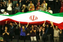 Rio 2016 - FIVB Men World Olympic Qualification Tournament (WOQT) in Japan - Iran vs. France - Volleyball fans
