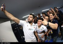 Rio 2016 - FIVB Men World Olympic Qualification Tournament (WOQT) in Japan - Iran vs. Poland - Volleyball team - 02 - Changing room