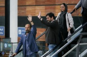 Welcome in Tehran after Cannes 2016 to the crew of Iranian film 'The Salesman' (Forushande) - Director Asghar Farhadi and actors Shahab Hosseini and Taraneh Alidoosti