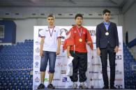 2016 World Youth U16 Chess Olympiad - Best players per board - Board 4 - Jun Wei Lee (gold, Singapore), Arash Tahbaz (silver, Iran) and Alexey Sarana (bronze, Russia)