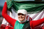 Nemati, Zahra - 2012 London Paralympic Games - Archery - Iranian gold medal celebration - Foto by Harry Engels for Getty Images