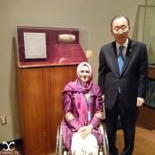 Nemati, Zahra - Iranian archer - Paralympic gold medal winner Nemati meets U.N. Secretary-General Ban Ki-moon