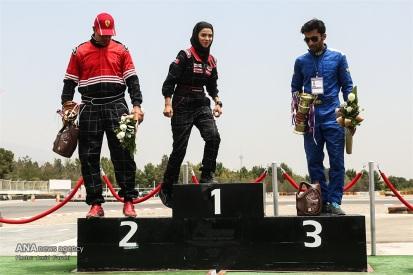 Peykan Pour, Leila - Iranian racing driver - Winner - Kia Pride Championship in Azadi Sports Complex, Tehran - July 2016 - 01