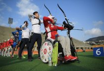 Rio 2016 - Archery - Training Session - Zahra Nemati - Olympic Games in Rio de Janeiro, Brazil