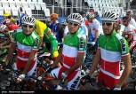 Rio 2016 - Cycling Road Race - M. Pourseyedi Golakhour, Ghader Mizbani Iranagh, A. Moazami Goudarzi - Olympic Games in Rio de Janeiro, Brazil