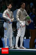Rio 2016 - Fencing - Men's Sabre Individual - Matyas Szabo (Germany) and Ali Pakdaman (Iran) - Olympic Games in Rio de Janeiro, Brazil - BORNA News Agency
