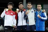 Rio 2016 - Wrestling - Freestyle 57kg - Gold Khinchegashvili (Georgia), Silver Higuchi (Japan), Bronze Aliyev (Azerbaijan) and H.S. Rahimi (Iran) - Olympic Games in Rio de Janeiro, Brazil - IRNA