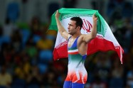 Rio 2016 - Wrestling - Freestyle 57kg - Hassan Sabzali Rahimi (Bronze medal winner) - Olympic Games in Rio de Janeiro, Brazil - Photo Alex Livesey (Getty Images 2016) 01