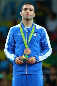 Rio 2016 - Wrestling - Freestyle 57kg - Hassan Sabzali Rahimi (Bronze medal winner) - Olympic Games in Rio de Janeiro, Brazil - Photo Alex Livesey (Getty Images 2016) 02