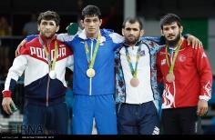 Rio 2016 - Wrestling - Freestyle 74kg - Gold Hassan Yazdani (Iran), Silver Geduev (Russia), Bronze Hasanov (Azerbaijan) and Demirtas (Turkey) - Olympic Games in Rio, Brazil - IRNA