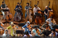 Tehran Symphony Orchestra and World Youth Orchestra - Rehearsal - Tehran, Iran - Foto by Bahareh Asadi for Honar Online - 1