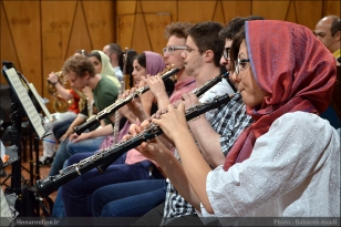 Tehran Symphony Orchestra and World Youth Orchestra - Rehearsal - Tehran, Iran - Foto by Bahareh Asadi for Honar Online - 10