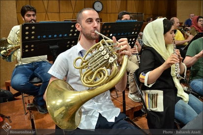 Tehran Symphony Orchestra and World Youth Orchestra - Rehearsal - Tehran, Iran - Foto by Bahareh Asadi for Honar Online - 6