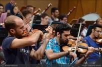 Tehran Symphony Orchestra and World Youth Orchestra - Rehearsal - Tehran, Iran - Foto by Bahareh Asadi for Honar Online - 7
