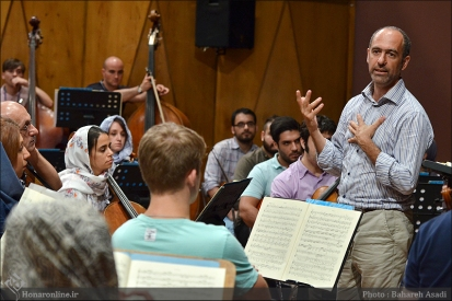 Tehran Symphony Orchestra and World Youth Orchestra - Rehearsal - Tehran, Iran - Foto by Bahareh Asadi for Honar Online - 8