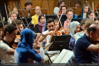 Tehran Symphony Orchestra and World Youth Orchestra - Rehearsal - Tehran, Iran - Foto by Bahareh Asadi for Honar Online - 9