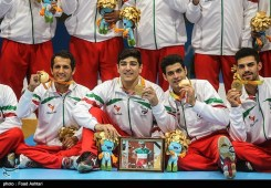 Iran men's sitting volleyball team, gold medal winners at the Paralympic Games in Rio de Janeiro, Brazil - Foto Foad Ashtari (Tasnim)