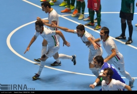 Iran futsal team celebrates after winning on penalty kicks against Portugal at the FIFA Futsal World Cup 2016 in Colombia (Photo IRNA)