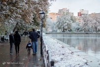 First autumn snow in Tabriz, East Azerbaijan, Iran (Photo credit: Behnam Abedi / YJC)
