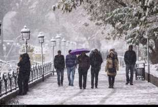 First autumn snow in Tabriz, East Azerbaijan, Iran (Photo credit: IRNA)