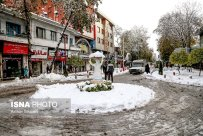 Autumn snow in Rasht - Gilan Province, Iran (Photo credits: Ashkan Shabani, ISNA)