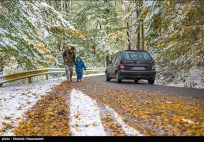Autumn snow in Gorgan - Golestan, Iran (Photo credits: Mostafa Hazanzadeh, Tasnim)