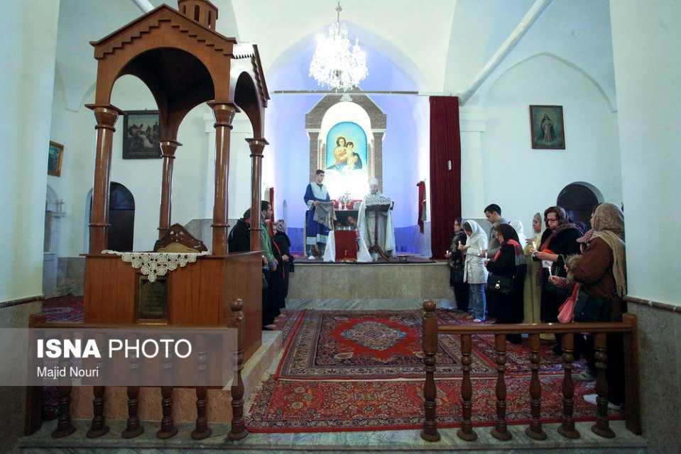 Surp Mesrob Church in Arak, Markazi on Jan 6, 2017 (Photo credit: Majid Nouri, ISNA)
