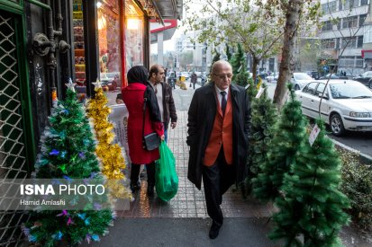 Christmas 2016/2017 in Tehran, Iran (Photo credit: Hamid Amlashi / ISNA)